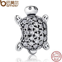 New Authentic S925 Sterling Silver Sweet Charm Sea Turtle, Clear CZ Fit Bracelet