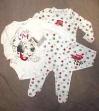 pyjama body et bavoir neufs disney dalmatiens  taille 0-3  mois ** ****