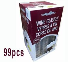 99 CLEAR PLASTIC WINE GLASSES RED WHITE CHAMPAGNE DISPOSABLE 210ML NEW