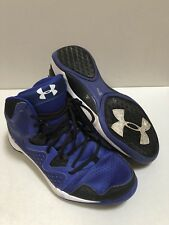 Under Armour Micro G Royal Blue / Black High Top Sneakers Shoes - Size 9 Men's