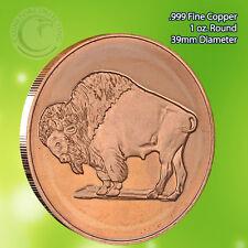 Buffalo 1 oz .999 Copper Round