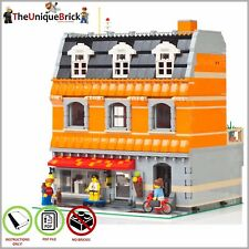 LEGO MOC Modular Ice Cream Store - CUSTOM Model - PDF Instructions Manual