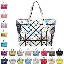 Quilted Sequin Shoulder Bag Geometric Lattice Laser Ladies Handbag Womens Free
