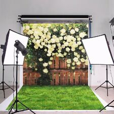 5Ft Christmas Photography Flower Fence Backdrop Wall Photo Studio Background