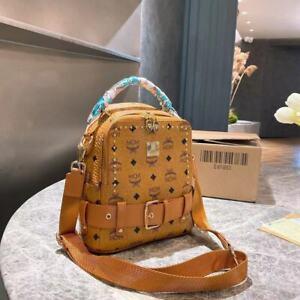 6 Farben MCM Handtasche Shopper Bag Henkeltasche Visetos Large Cognac Tasche@@@