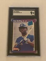 KEN GRIFFEY JR. RC 1989 DONRUSS #33 SGC 9 MINT ROOKIE CARD HOF