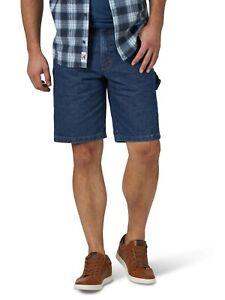 "Men's Wrangler Carpenter Denim Shorts Blue Jeans 10"" inseam Size 42 NWT"