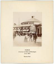 France, Paris, avenue du Bois de Boulogne, juin 1890 Vintage albumen print.
