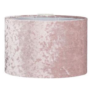 Blush Pink Velvet Light Shade - Ceiling Pendant Lamp Shade NEW