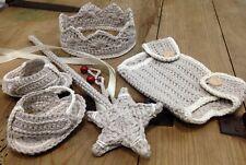 Disfraz Crochet Conjunto  Bebe Recién Nacido Atrezo Fotografía Nuevo Beige