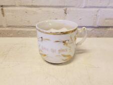"Antique German Porcelain ""Love the Giver"" Mustache Mug"