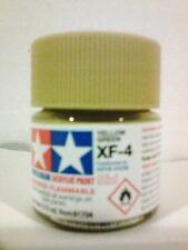 Tamiya acrylic paint XF-4 Yellowgreen 10ml Mini.