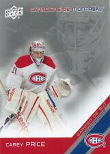 Hockey LNH UPPER D.E.C.K CARD CAREY PRICE # 31 CANADIENS DE MONTRÉAL NEW!