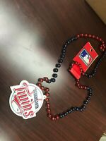 MLB Minnesota Twins Baseball Team Logo Mardi Gras Bead Necklace