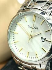 Bulova Classic Dress Women's Watch Silver Dial Stainless Steel Quartz 98M121