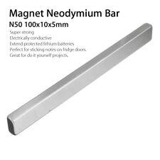 KF_ 2Pcs N50 Rectangle Strong Block Neodymium Rare Earth Magnet Bars 100x10x5m