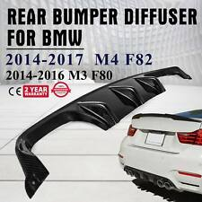 Fits for 2015-17 BMW F8X M3 M4 Rear Diffuser Lip Performance Style Carbon Fiber