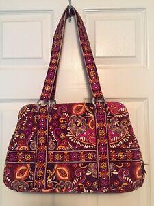 VERA BRADLEY SAFARI SUNSET SQUARED AWAY Purse Shoulder Bag EXCELLENT Condition