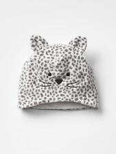 NWT$15 Baby GAP Girls Pro Fleece Cat Beanie Hat XS S M 12 24 mo 2 3 Animal Print