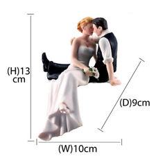 Bride and Groom Couple Wedding Cake Topper Love Favors Resin Figurine Decora  SP