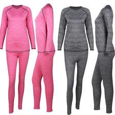 Winter Women's Ultra Soft Thermal Underwear Long Johns Set with Fleece Lined US