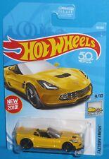 2018 HOT WHEELS Chevy Corvette C7 Z06 Convertible #98/365 Chevrolet 50th Card