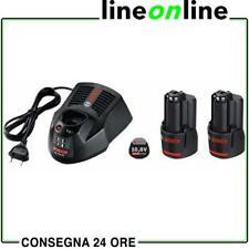 Set Bosch n. 2 batterie GBA 10,8V 3,0 Ah + caricabatteria AL 1230 CV
