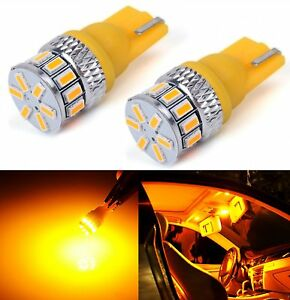 JDM ASTAR Map Dome Amber Yellow CANBUS Error Free LED Lights Bulbs 194 168 2825