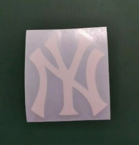 New york Yankees Helmet Decals white 2x1.75 for MLB batting Helmet