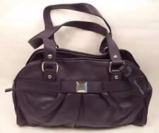 PURPLE Leather Shoulder bag handbag Doppio Cinturino