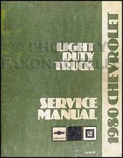 1980 Chevy Truck Shop Manual Pickup Blazer Suburban Van Scottsdale Silverado 80