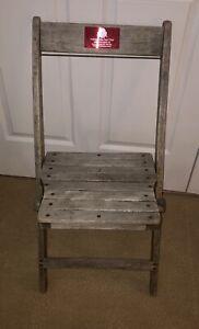 The Ohio State University Buckeyes Stadium Wooden Box Seat Game Used Horseshoe