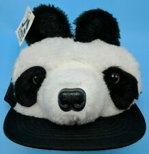 PANDA BEAR FACE HEAD trucker-style adjustable cap / hat - size M / L
