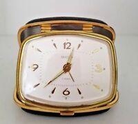 Vintage Bradley Seven Jewels Travel Alarm Clock - Made in Germany