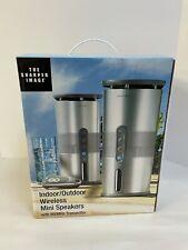 NiIB The Sharper Image Indoor/outdoor Wireless Mini Speakers Set 900mhz
