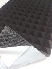 Pyramiden Schaumstoff SELBSTKLEBEND Dämmung Akustik Schallschutz 49 x 49 x 4 cm