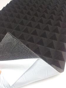 Pirámides Espuma Autoadhesivo Aislamiento Acústica Acústico 99 x 99 X 8CM