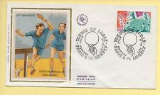 FDC n° 1961 – Tennis de Table (50è Anniversaire) – Paris / Annecy 17/12/1977