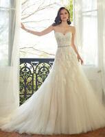 A-Linie Spitze Brautkleid Hochzeitskleid Kleid Braut Babycat collection BC740