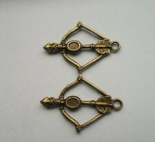 15pcs bronze plated Bow and arrow charms pendant Suitable for charm bracelet