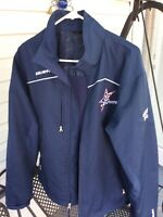 """BRAD MAY ""BAUER TEAM N.J.PATRIOTS ""#26 HOCKEY JACKET  Size SMALL SEE DESCRIP."