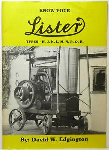 Know Your Lister Types - H, J, K, L, M, N, P, Q, R, Edgington.