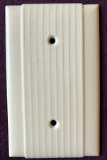 New ListingVintage Scarce Art Deco Wide&Fine Ribbed Bakelite Switch Plates & Outlet Covers