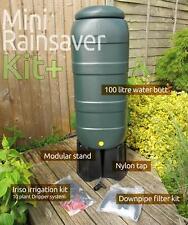 Mini (100 Litre) Rainsaver water butt Kit & Iriso 10 Drip Feeder Offer- Collect