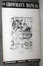 FRANCIS JOINS THE WACS pressbook DONALD O'CONNOR/MAMIE VAN DOREN/JULIE ADAMS
