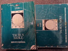 1998 FORD TAURUS & MERCURY SABLE Service Shop Repair Manual Set OEM WORN W EWD