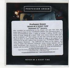 (DL456) Professor Green, Never Be A Right Time - 2011 DJ CD