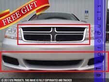 GTG 2011 - 2014 Dodge Avenger 7PC Gloss Black Overlay Billet Grille Grill Kit