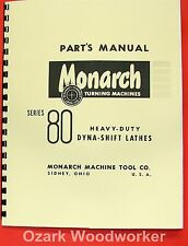 MONARCH 80 Metal Lathe Parts Manual 0474