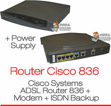 Cisco 836 ADSL over ISDN Broadband enrutador módem 8 Mbps factura Goo condition ok!